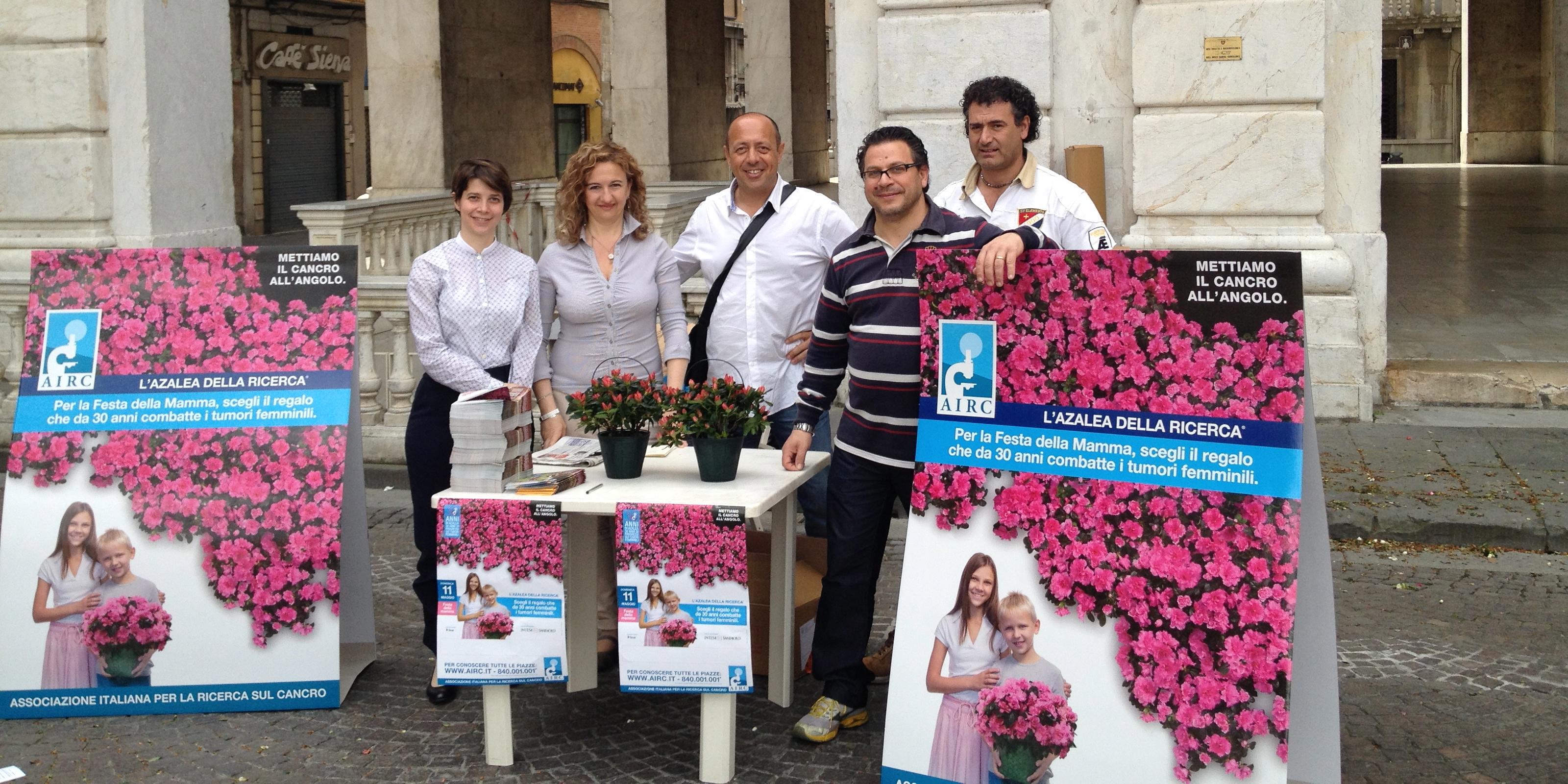 AIRC Start-Up di Pisa testimonial per la campagna Azalea della Ricerca, 11 maggio 2014