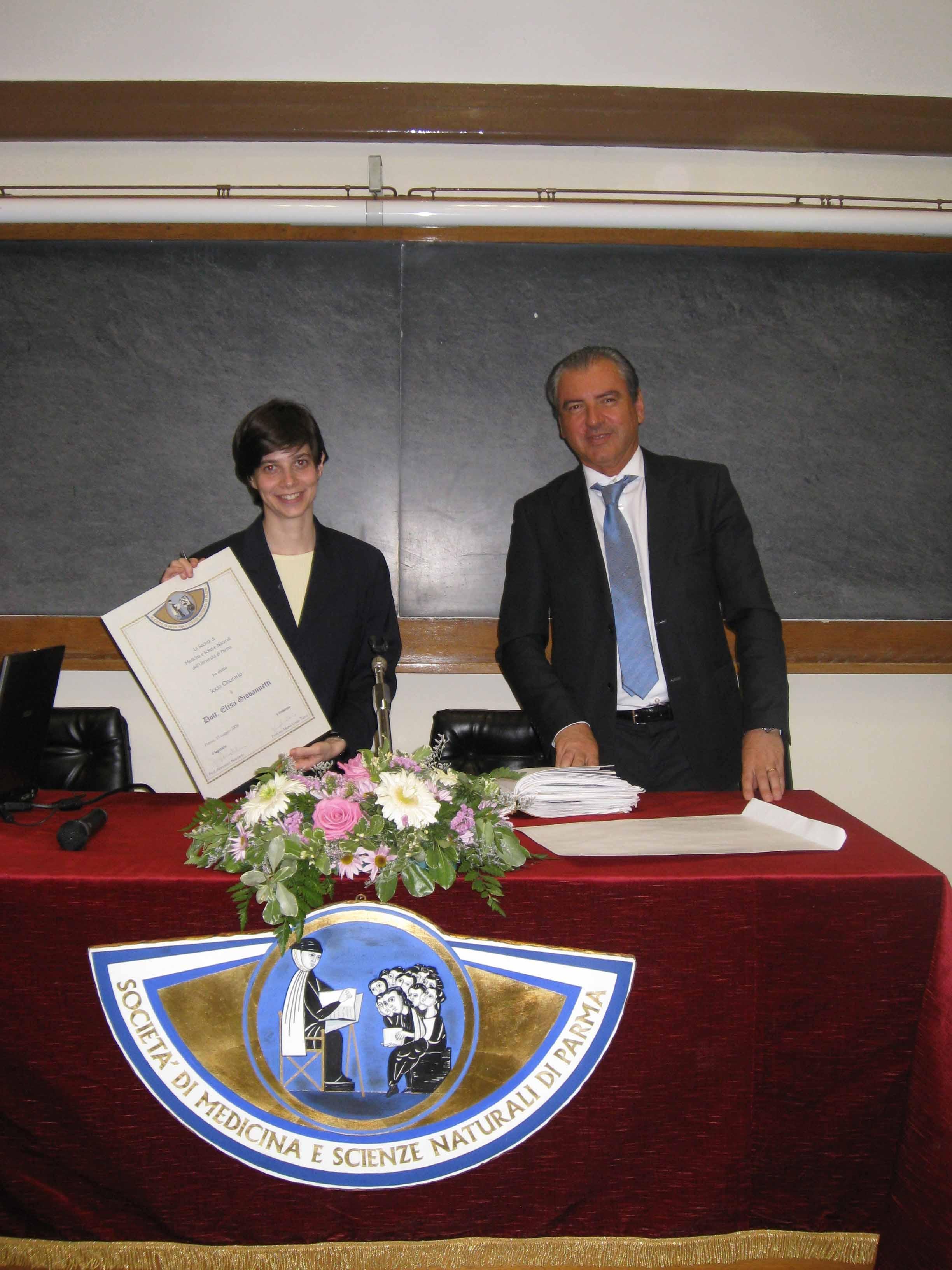 Seminar of Dr. Giovannetti at Parma University