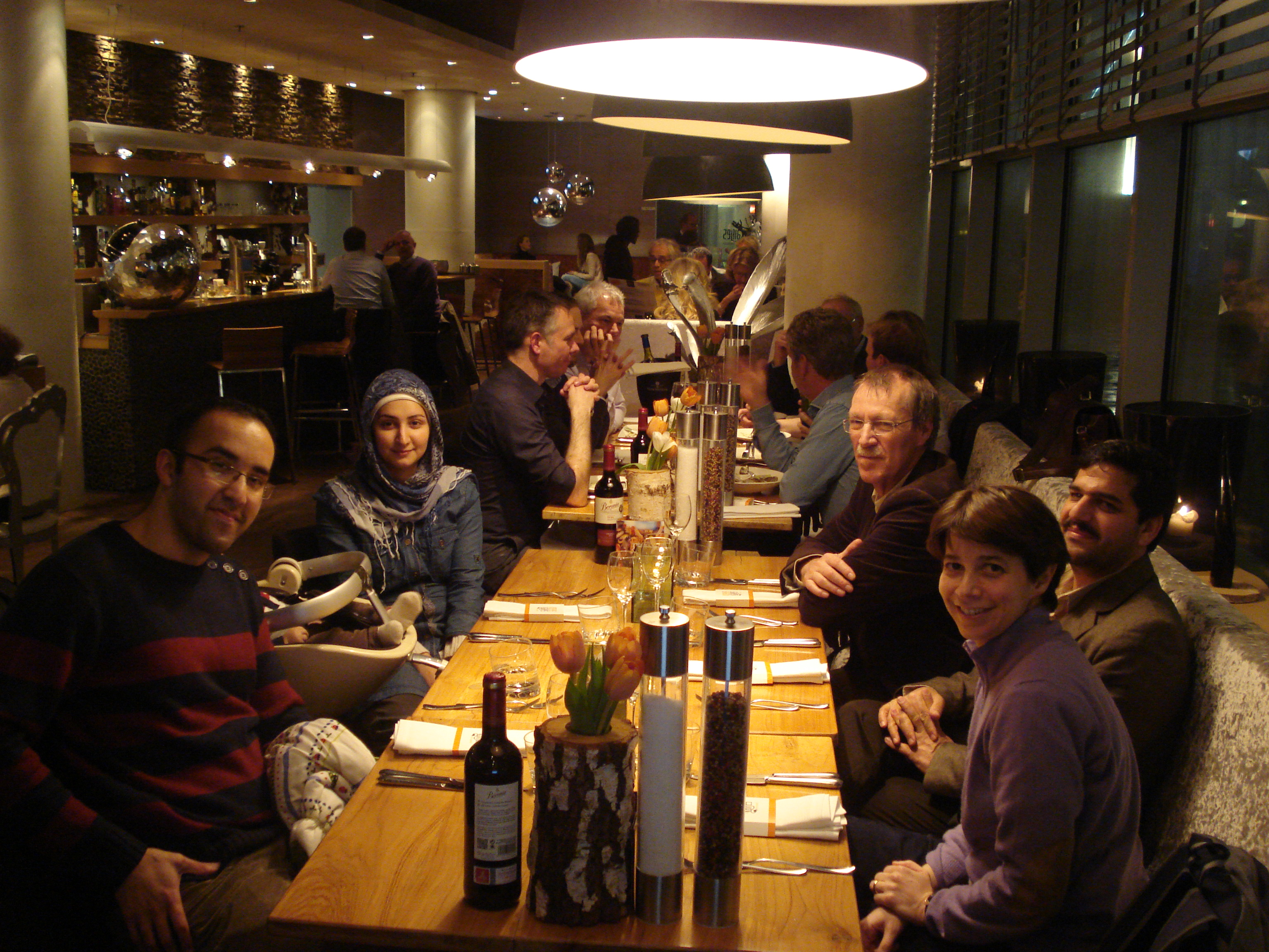 A dinner with our collaborators at VUmc and Ferdowsi University of Mashhad