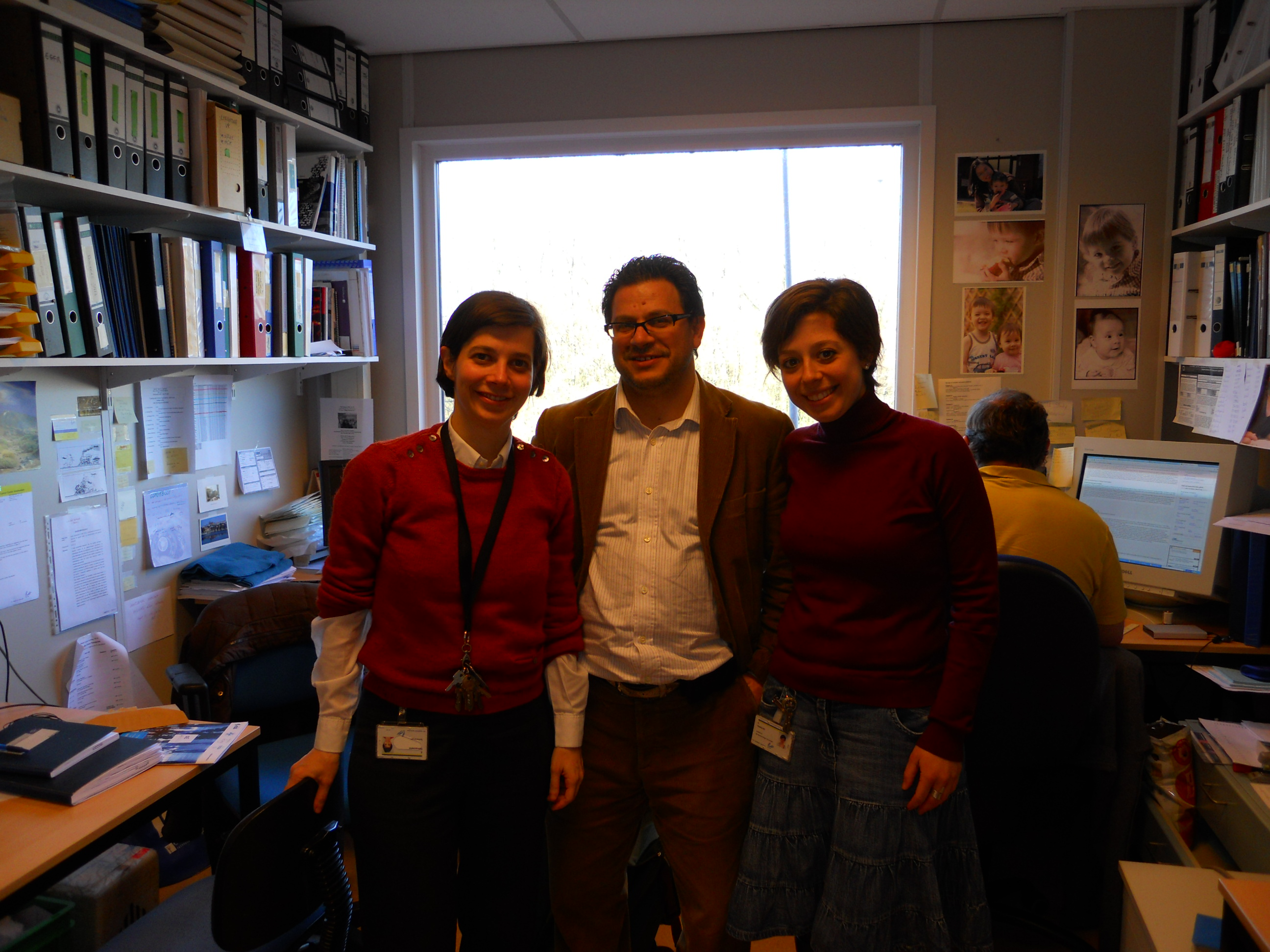 Dr. Funel and Dr. Giovannetti with the PhD student Elisa Paolicchi 2011