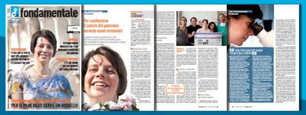 """Copertina ed articolo dedicati alla nostra Start-Up su """"Fondamentale"""" di Dicembre 2014"""