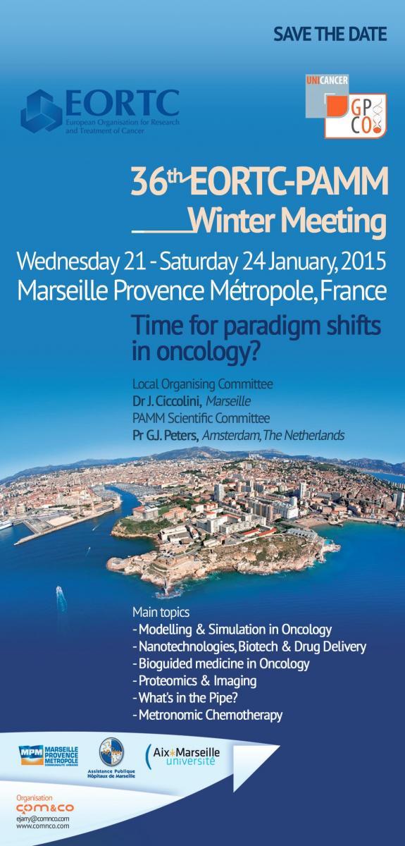 36th PAMM-EORTC Winter Meeting, Marseille