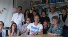 Photos with our collaborators at Cancer Center Amsterdam, August 2014