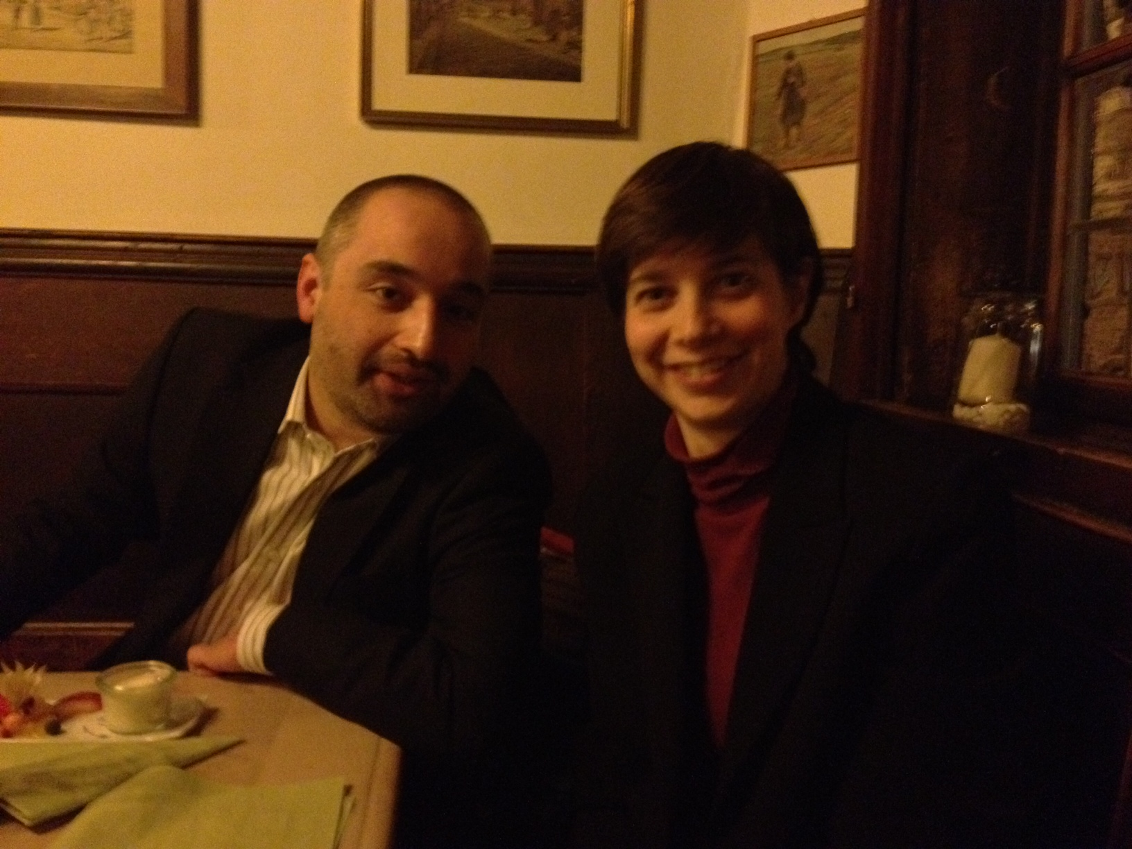Dinner with our collaborators at Marburg University