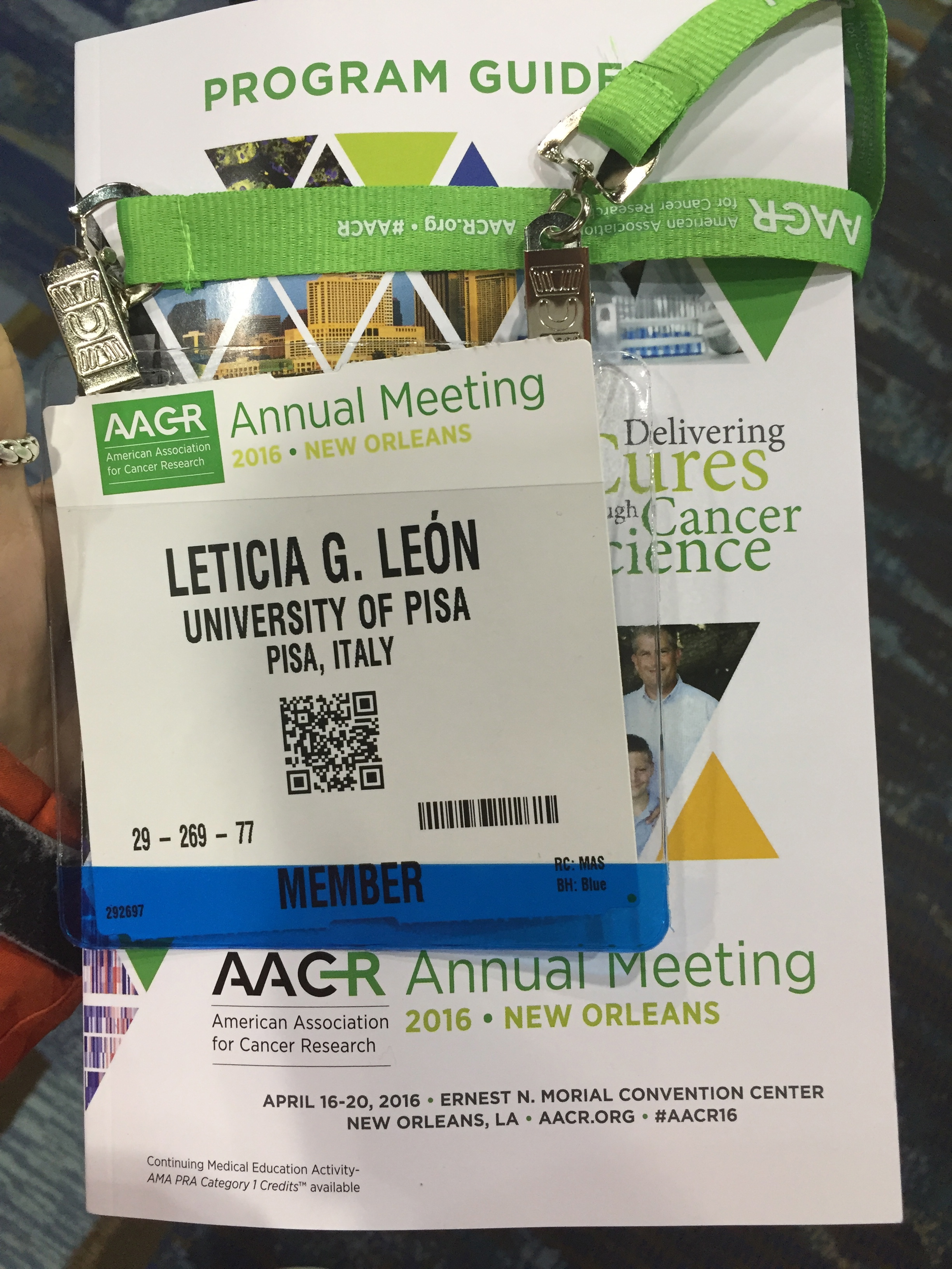 At AACR 2016 New Orleans